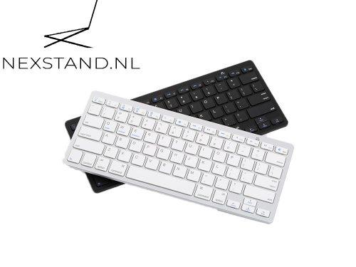 Oplaadbaar Bluetooth keyboard Zwart/Wit